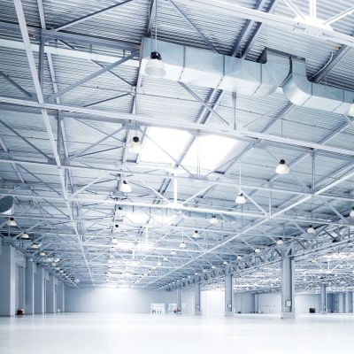 Industrial and Commercial Lightning solutions with LED, CP-EL series, UFO etc
