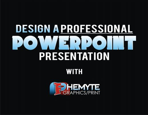Hire us to Design a Professional PowerPoint Presentation for u