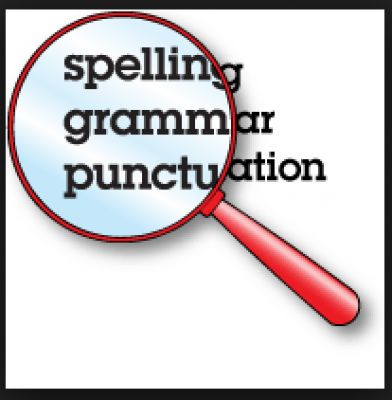 I will PROOFREAD and EDIT words for grammar, punctuation, and spelling.