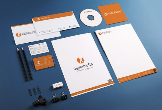 I will help you with branding of corporate stationery, apparels & lapel pins.