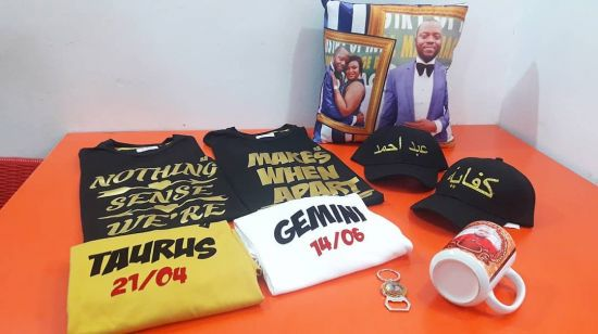 We will help brand your corporate and gift items, shirts, mugs, key holders, etc.