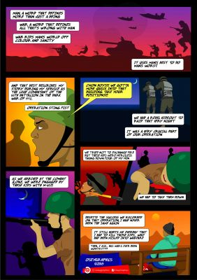 I can create comics and illustrations to promote your business or ideas.