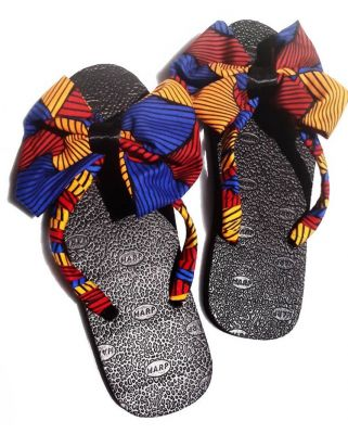 I will give your footwears an African look using Ankara.