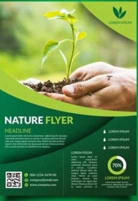 Get a creative and attractive flyers to convey your works to the general public.