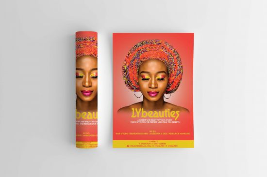 Get a creative flyer design and poster for your small and large business.