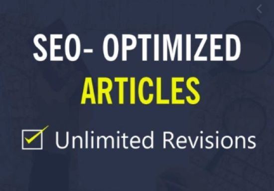 I will write SEO optimized Articles For You